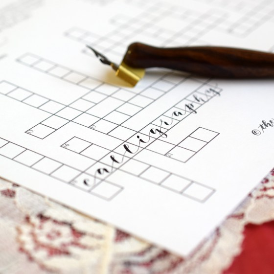 Calligraphy Crossword | The Postman's Knock