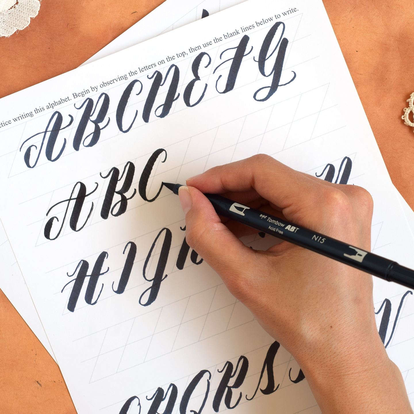 Brush Pen Calligraphy Worksheet: Neat Slant Edition | The ...