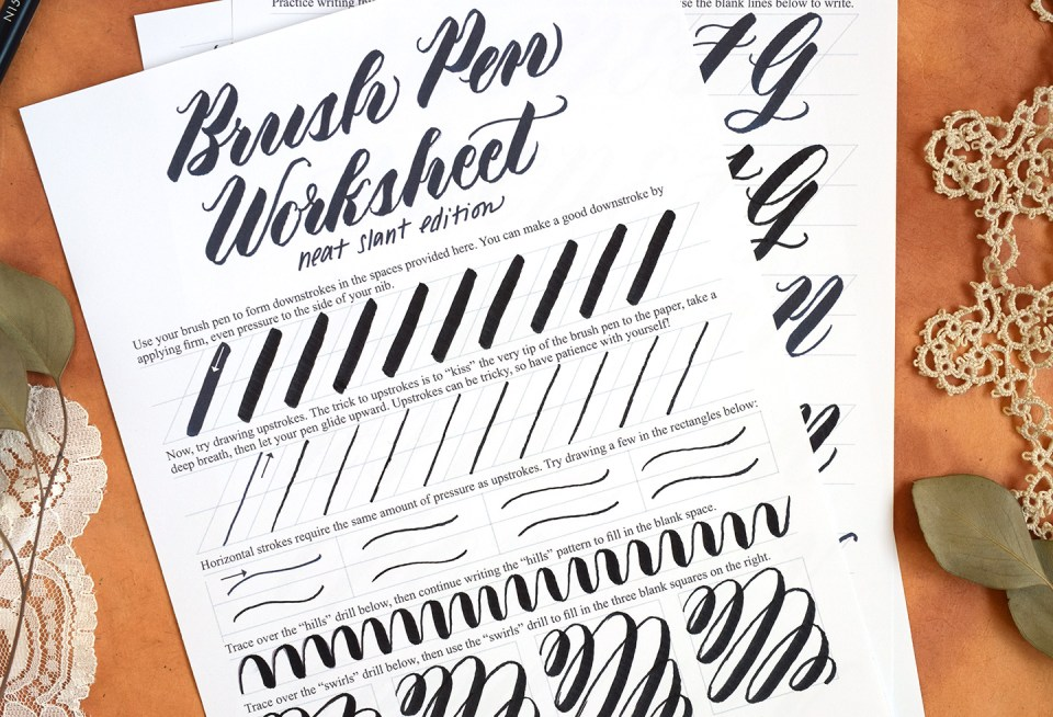 lettering worksheet