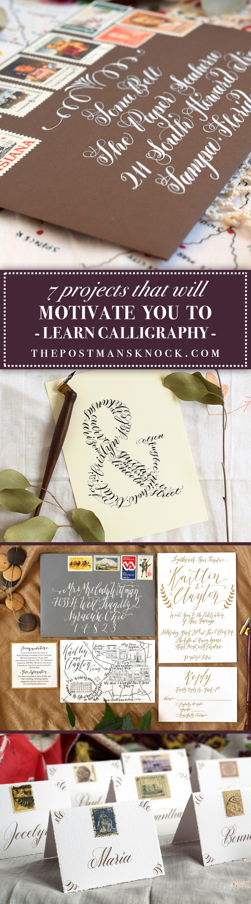 Projects that will motivate you to learn calligraphy