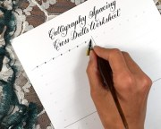 Calligraphy Spacing Cross Drills Worksheet