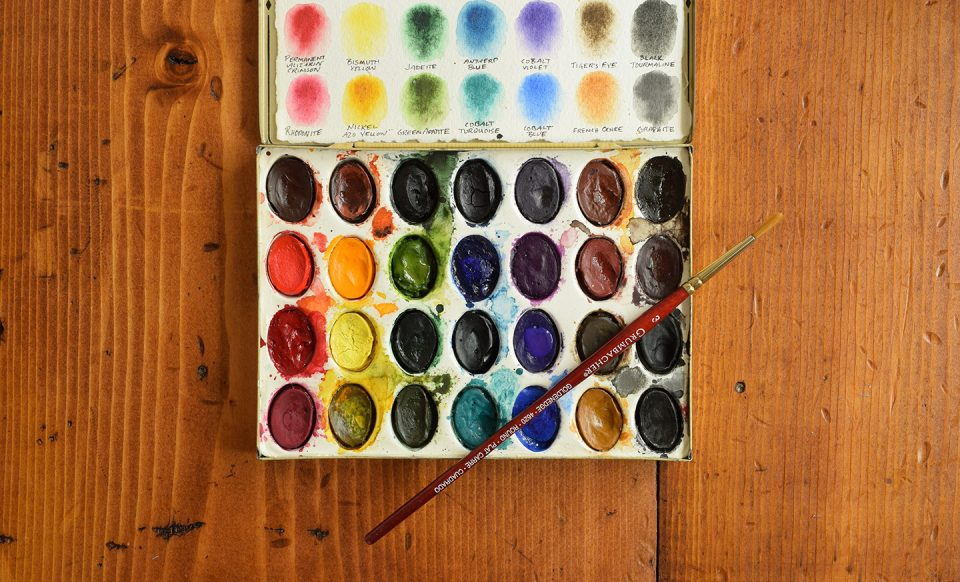 Watercolor Hexagons Mail Art Tutorial | The Postman's Knock