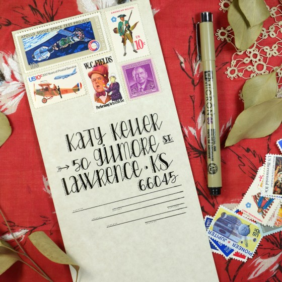 Stiches Hand Lettering loves mail art!
