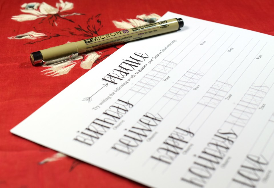 Premium Hand-Lettering Exemplar {Stitches Style}   The Postman's Knock