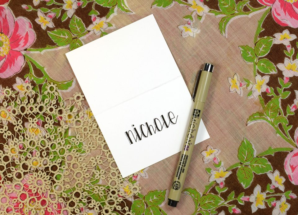 """Stitches"" Printable Hand-Lettering Exemplar 