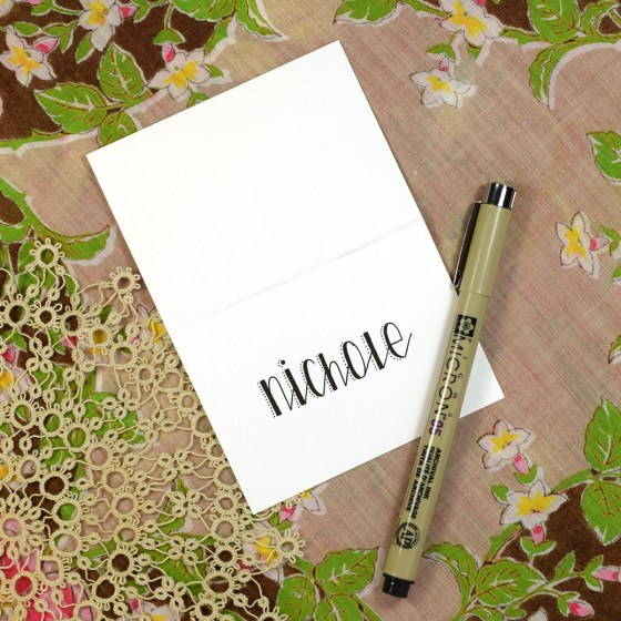 Premium Hand-Lettering Exemplar {Stitches Style}