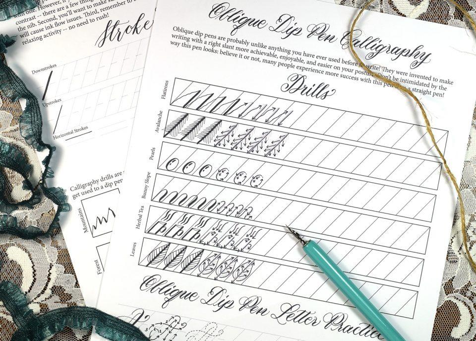 TPK Beginner Calligraphy Workshop Worksheet | The Postman's Knock