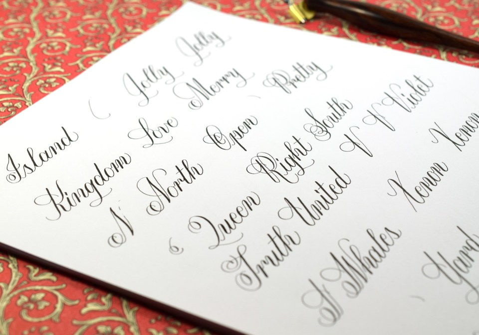 Janet Style Calligraphy Worksheet Preview | The Postman's Knock