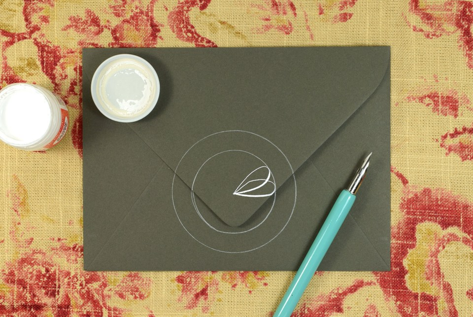 Simple calligraphy medallion tutorial the postman s knock