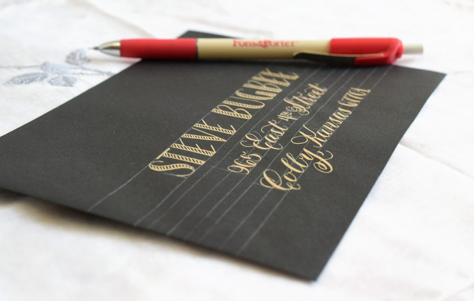 Creating Gold Calligraphy: How to Use the Finetec Palette | The Postman's Knock