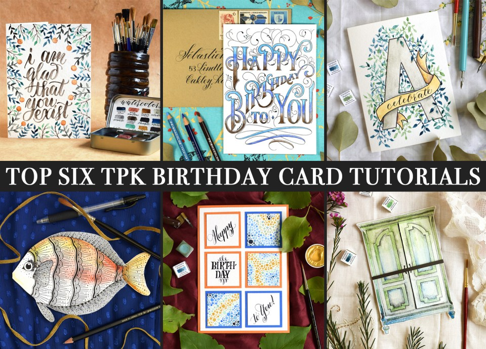 Top 6 TPK Birthday Card Tutorials | The Postman's Knock