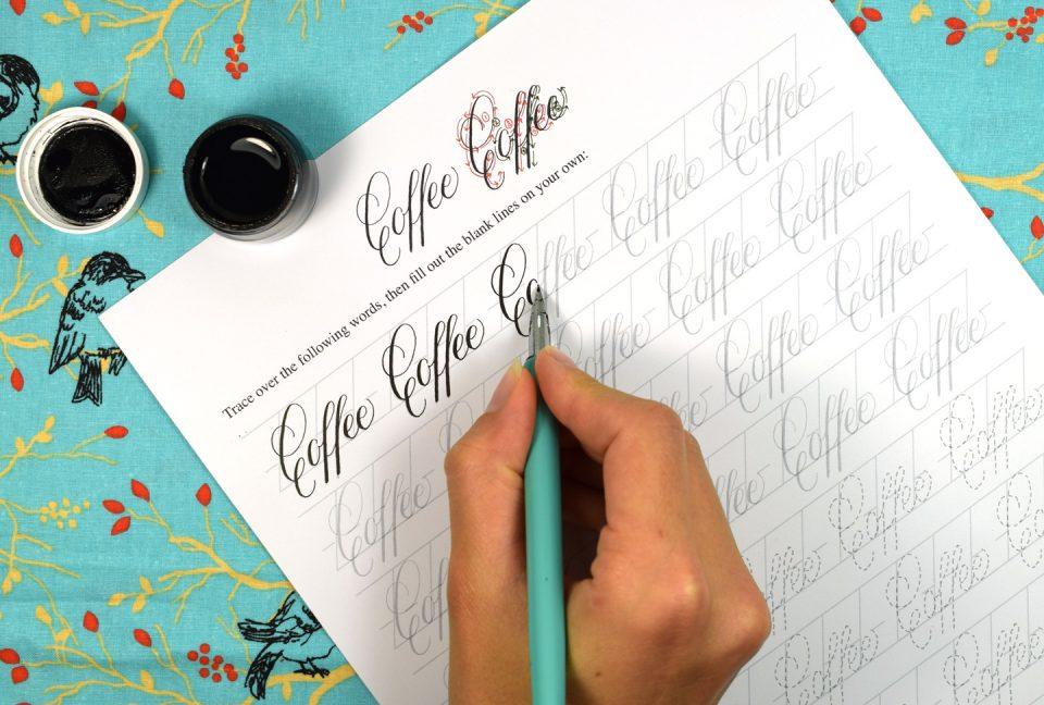 Printable Calligraphy Worksheet Set (Janet Style)   The Postman's Knock