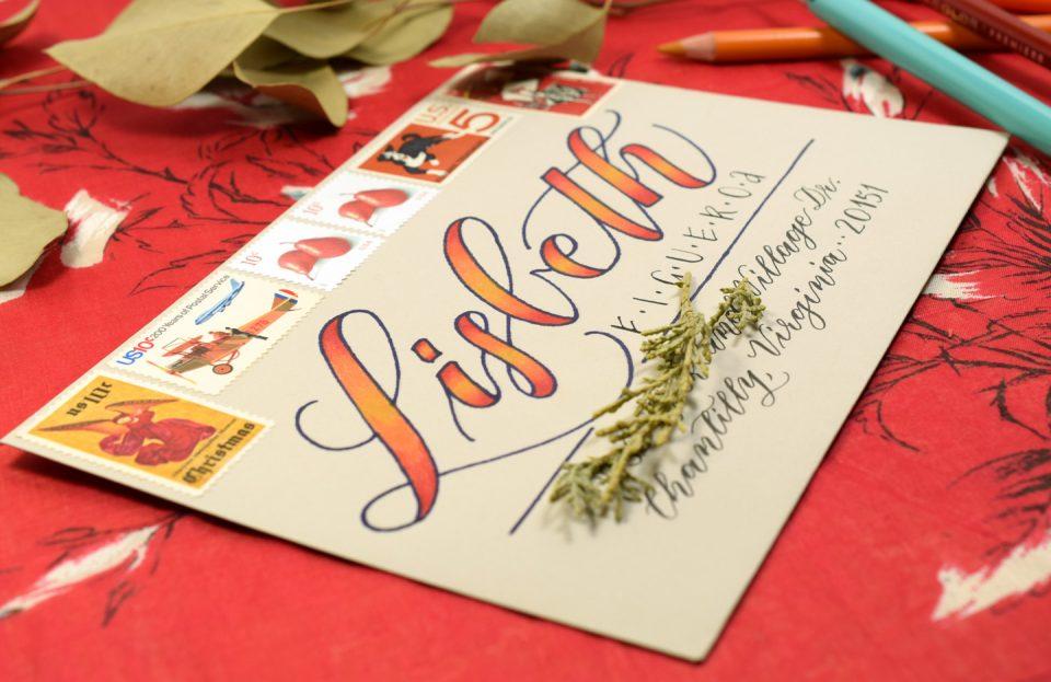 Quick Ombré Lettering Mail Art Tutorial | The Postman's Knock