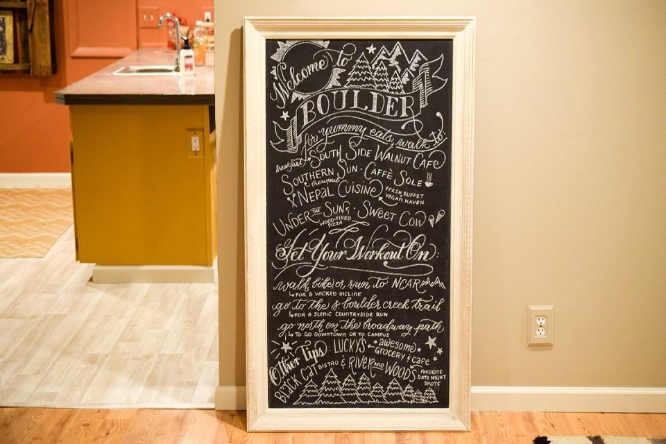 DIY Chalkboard Art Tutorial | The Postman's Knock