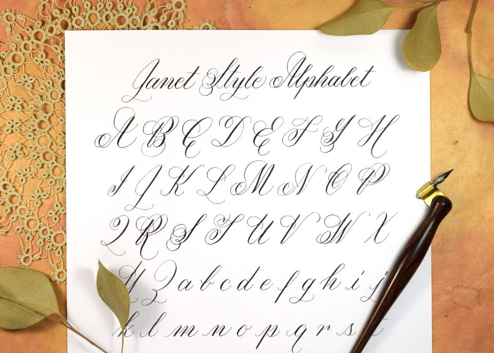 Janet Style Calligraphy Worksheet Update | The Postman's Knock