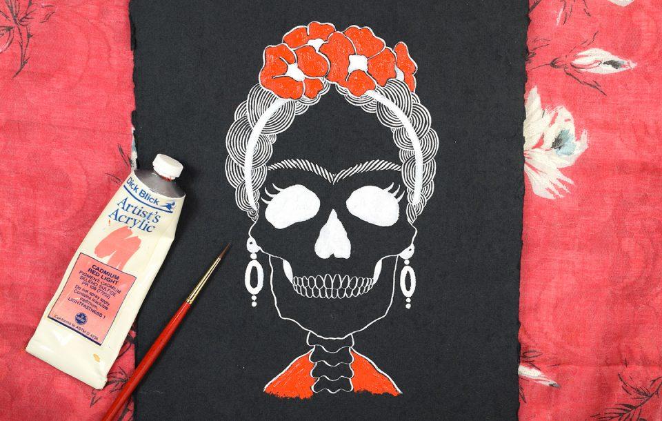 Frida Kahlo Halloween Art - Includes Printable   The Postman's Knock