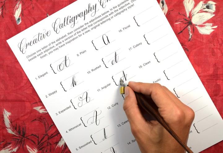 A Creative Calligraphy Challenge   The Postman's Knock