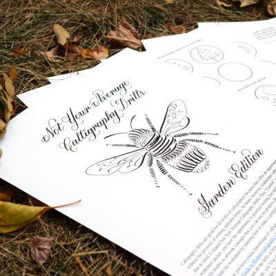 Not Your Average Calligraphy Drills: Garden Edition