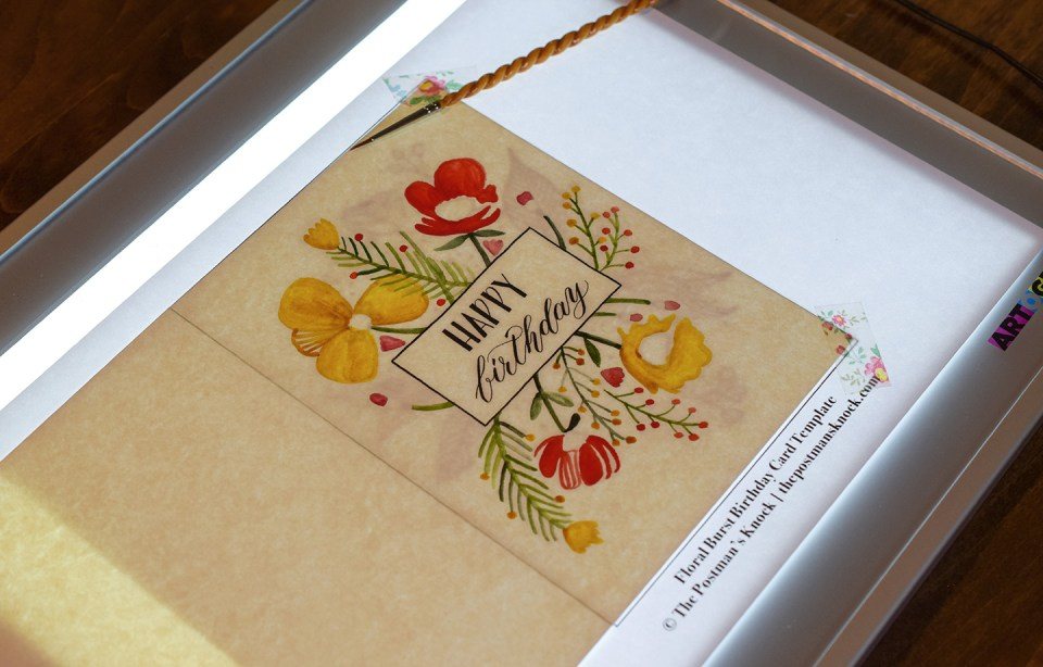 Floral Burst Birthday Card Tutorial (Includes Free Printable) | The Postman's Knock