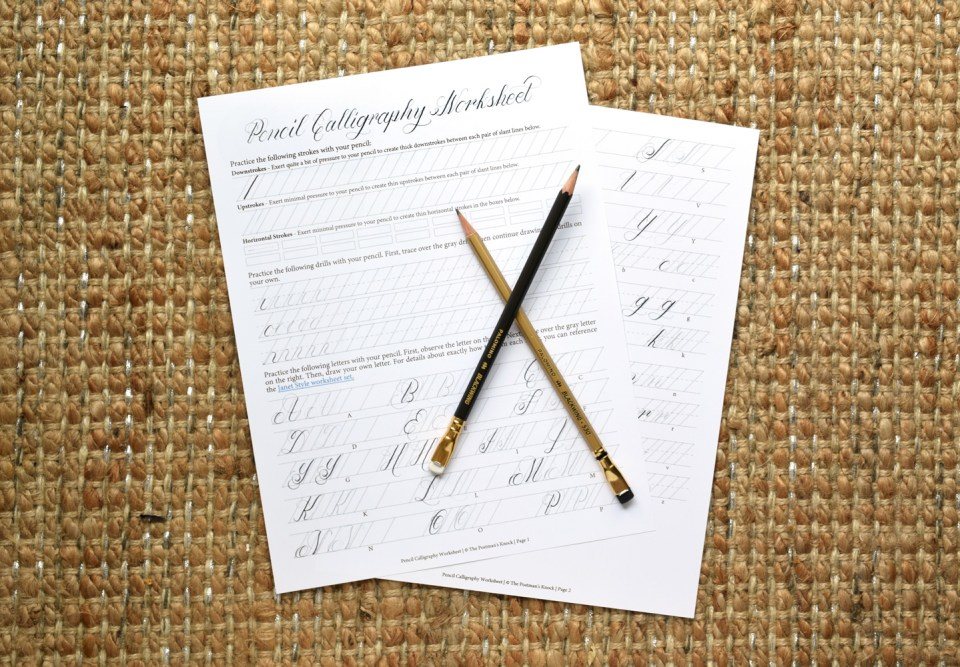 The beginner s guide to pencil calligraphy postman