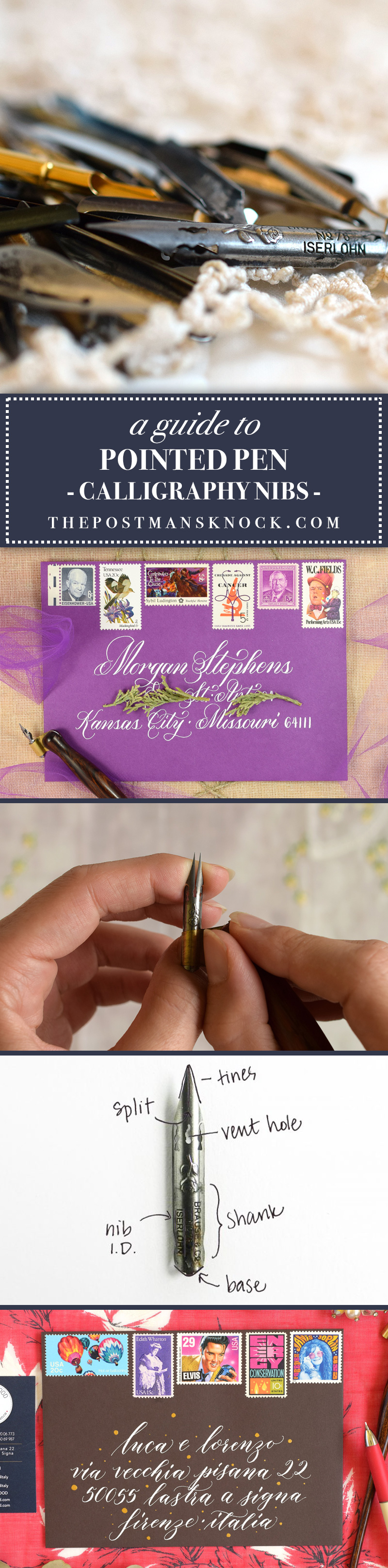 A Guide to Pointed Pen Calligraphy Nibs | The Postman's Knock