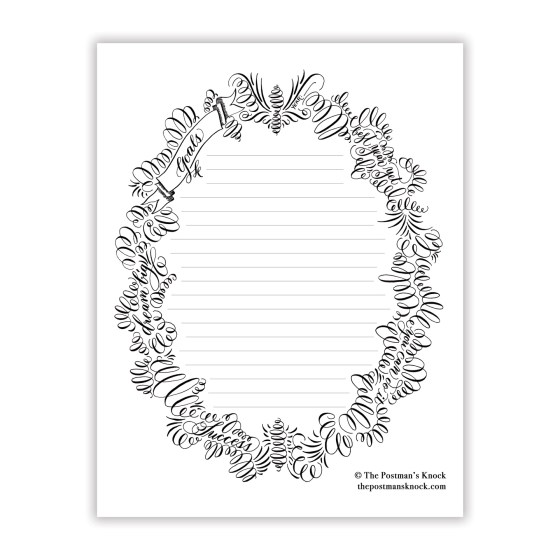 Flourished Printable Goal Sheet
