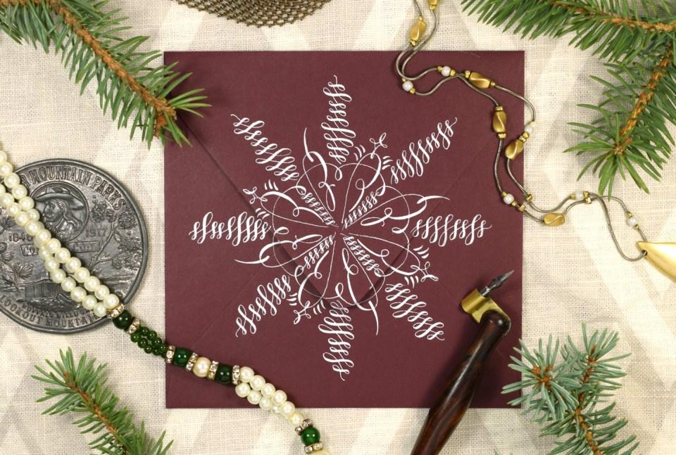 2017 Edition Holiday Calligraphy Printable Exemplar + Worksheet | The Postman's Knock