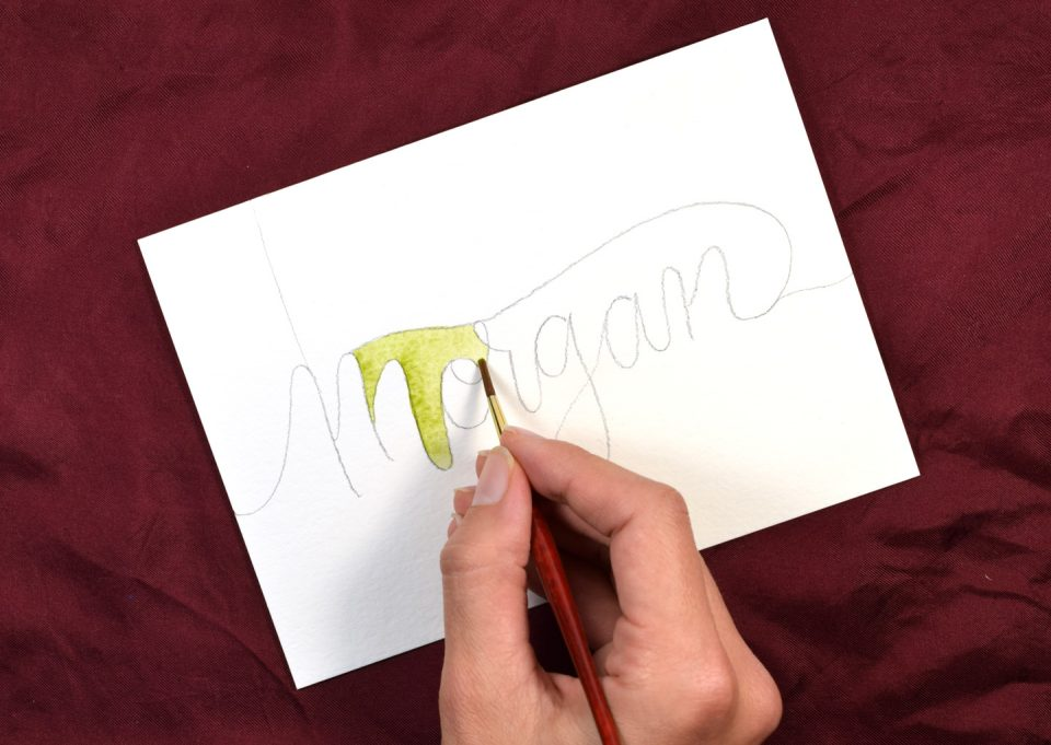 Watercolor Melt Lettering Tutorial | The Postman's Knock