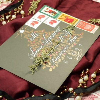 Christmas Tree Holiday Envelope Art Tutorial