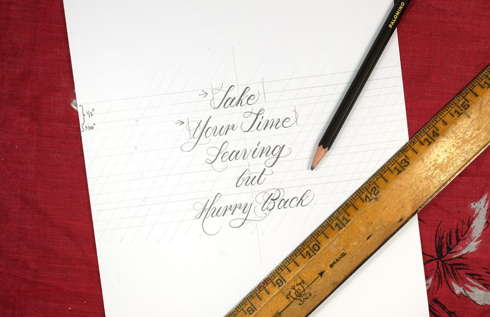 How to Make Calligraphy Quote Art   The Postman's Knock