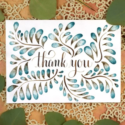 Blended Watercolor Thank You Card Tutorial
