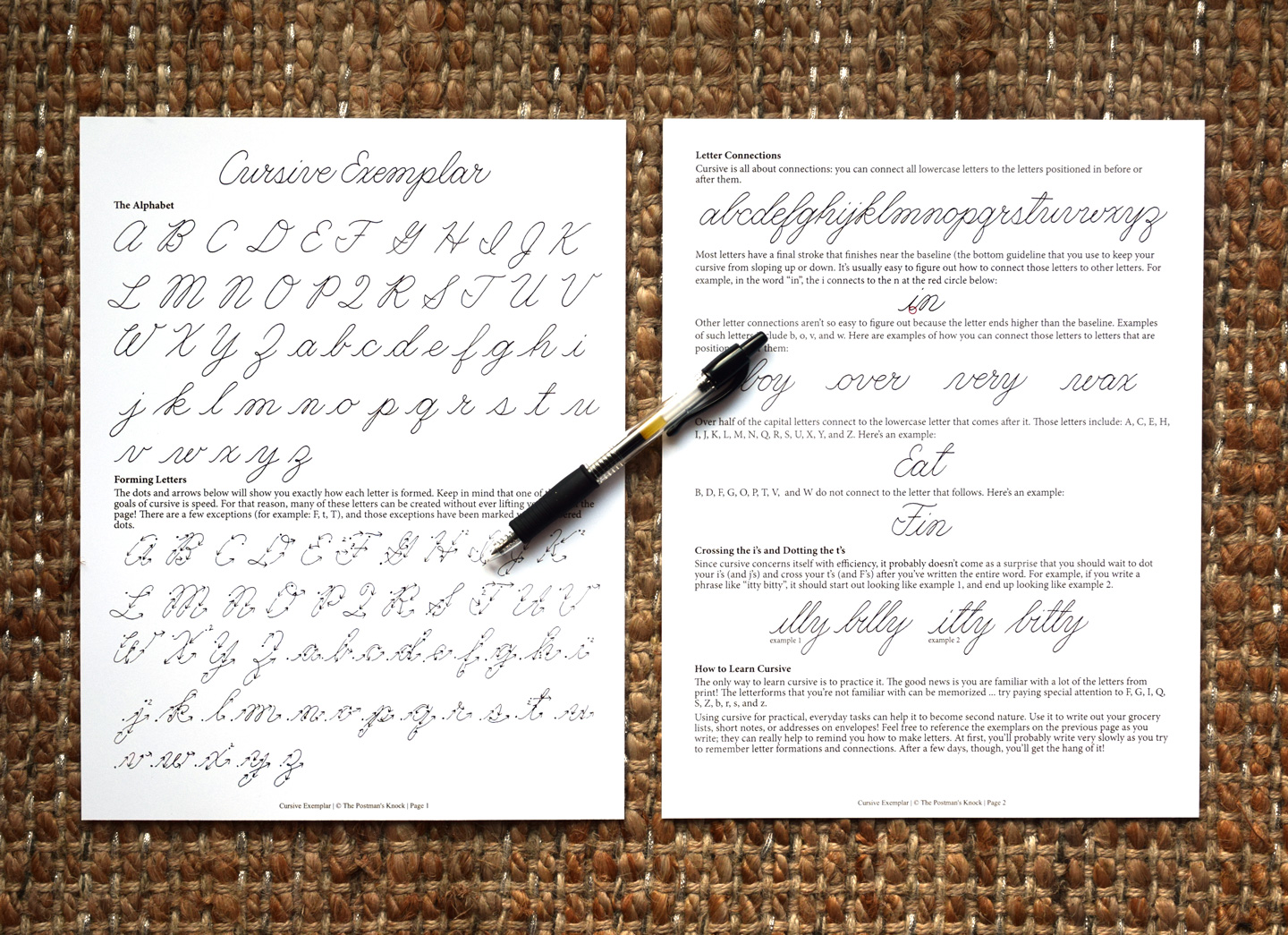 How To Write In Cursive  A Free Exemplar  The PostmanS Knock