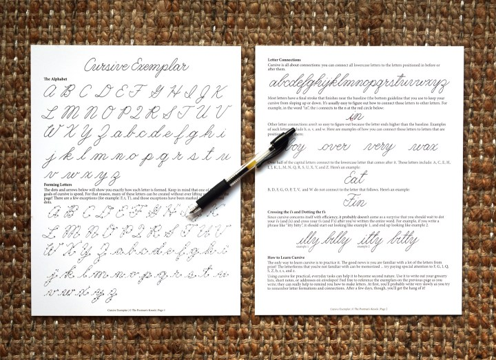How to Write in Cursive (+ Free Printable) | The Postman's Knock