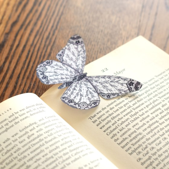 Small Butterfly Bookmark   The Postman's Knock