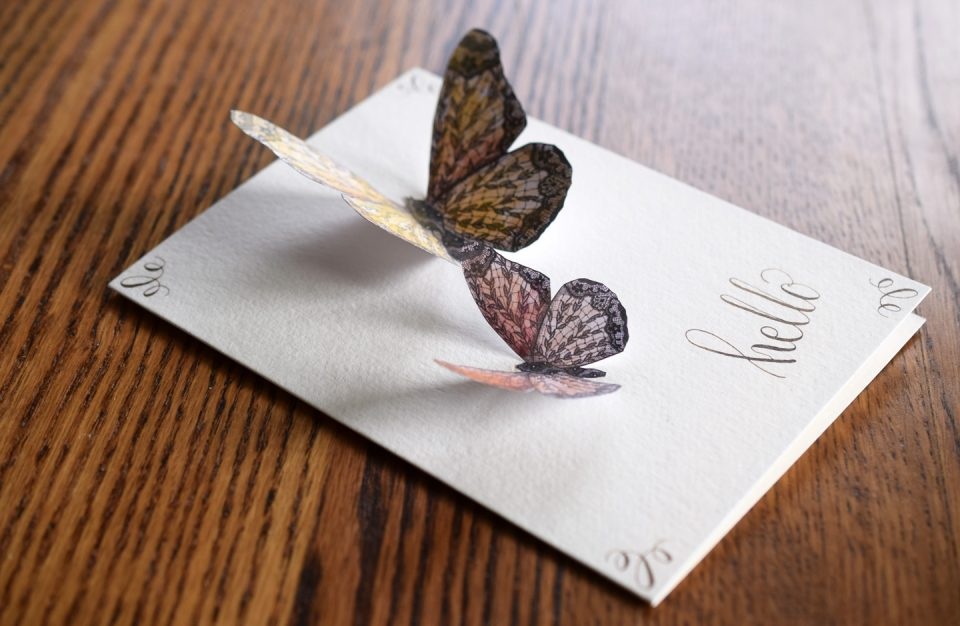 Lace Butterflies on a Card | The Postman's Knock