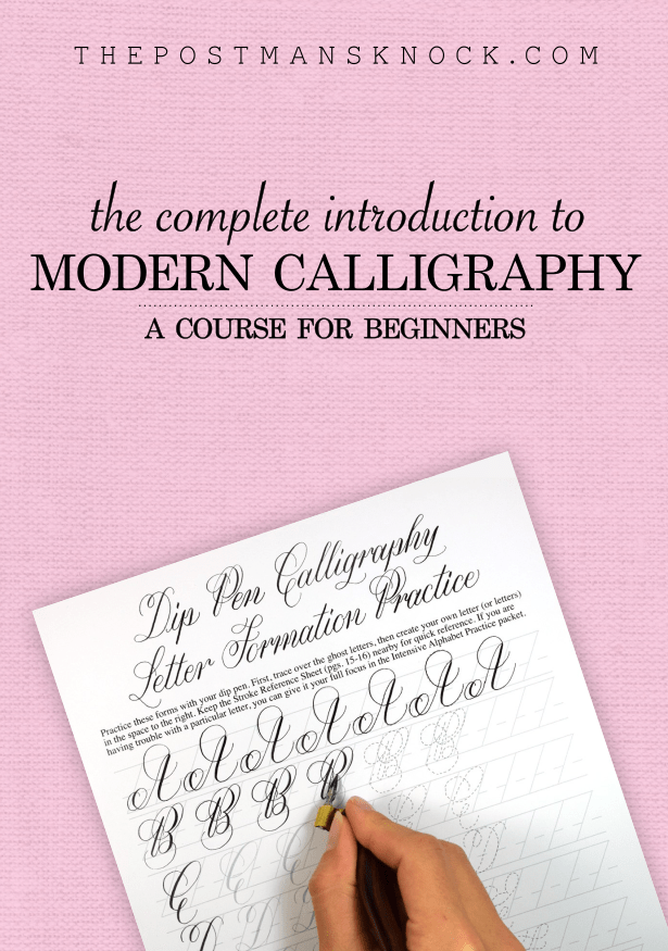 the tpk beginners modern calligraphy online course the postmans knock