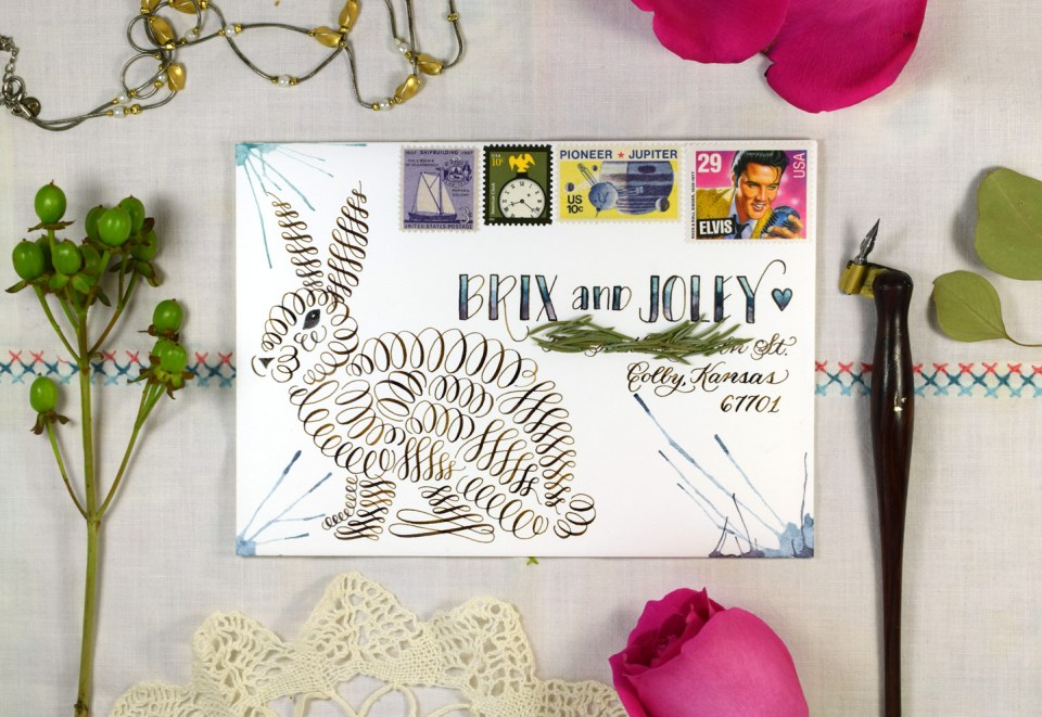 """Free Printable """"Flourish by Number"""" Bunny 