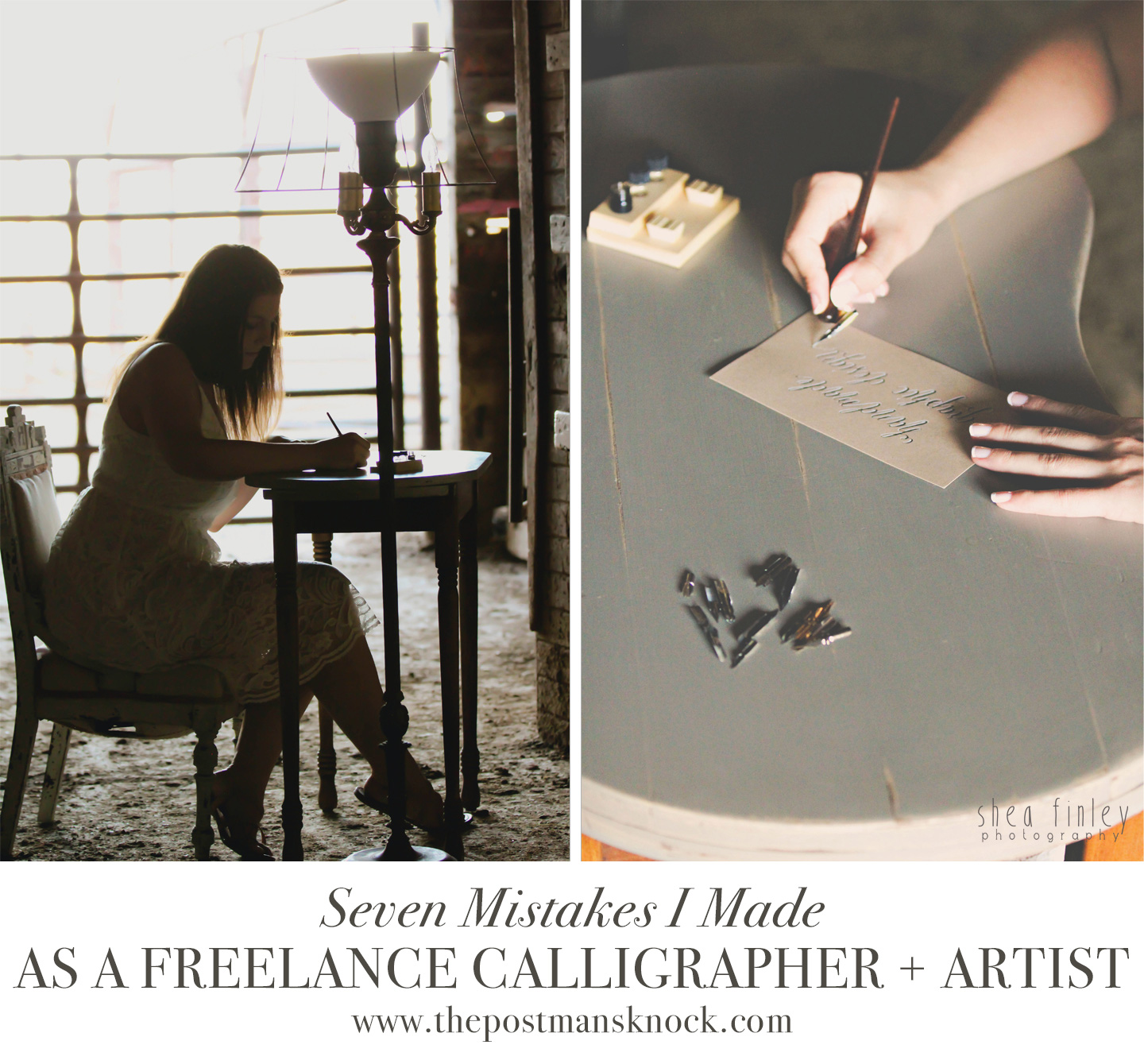 7 Mistakes That I Made as a Freelance Calligrapher and Artist | The Postman's Knock