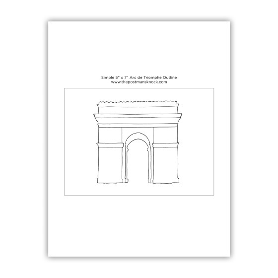 Simple Arc de Triomphe Outline