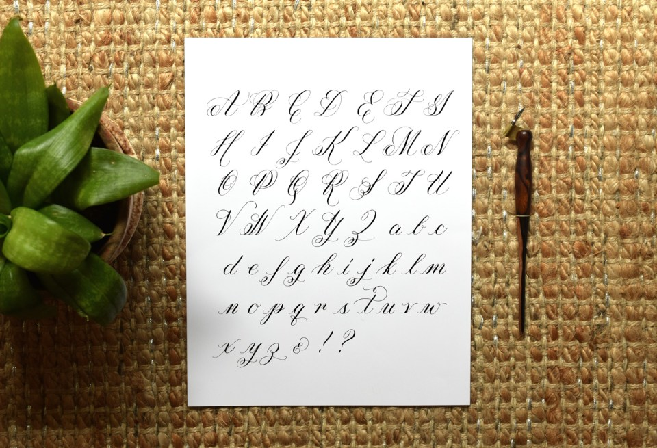 You can use these templates to make a calligraphy exemplar like this one!