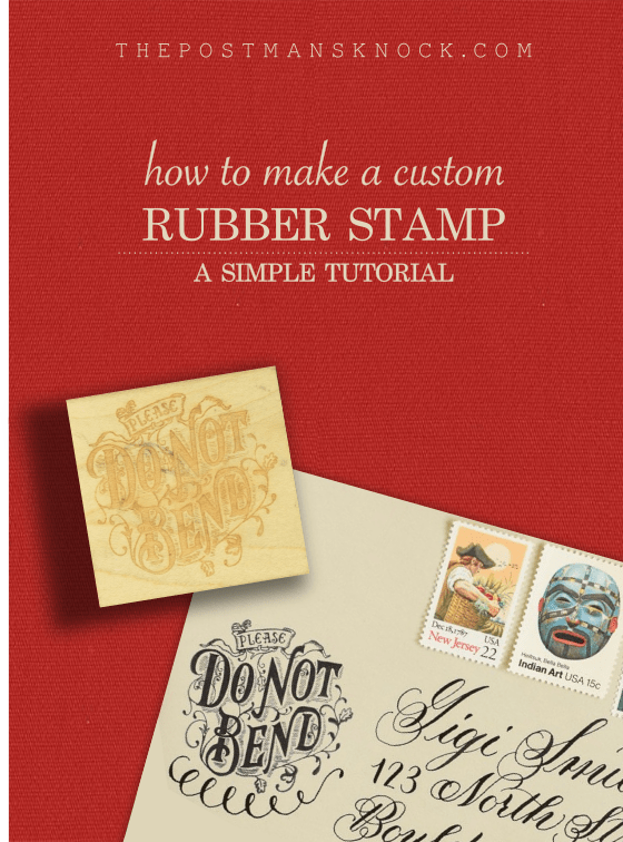 How to Make a Custom Rubber Stamp | The Postman's Knock