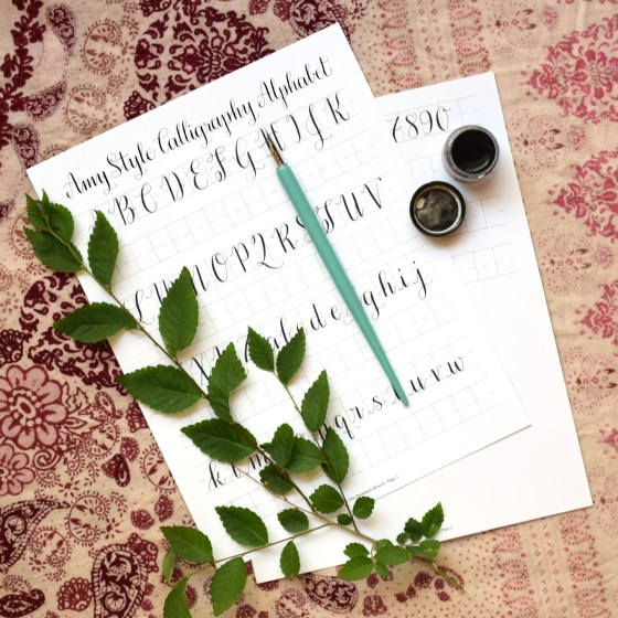 This is a basic calligraphy exemplar that includes some practice opportunity.