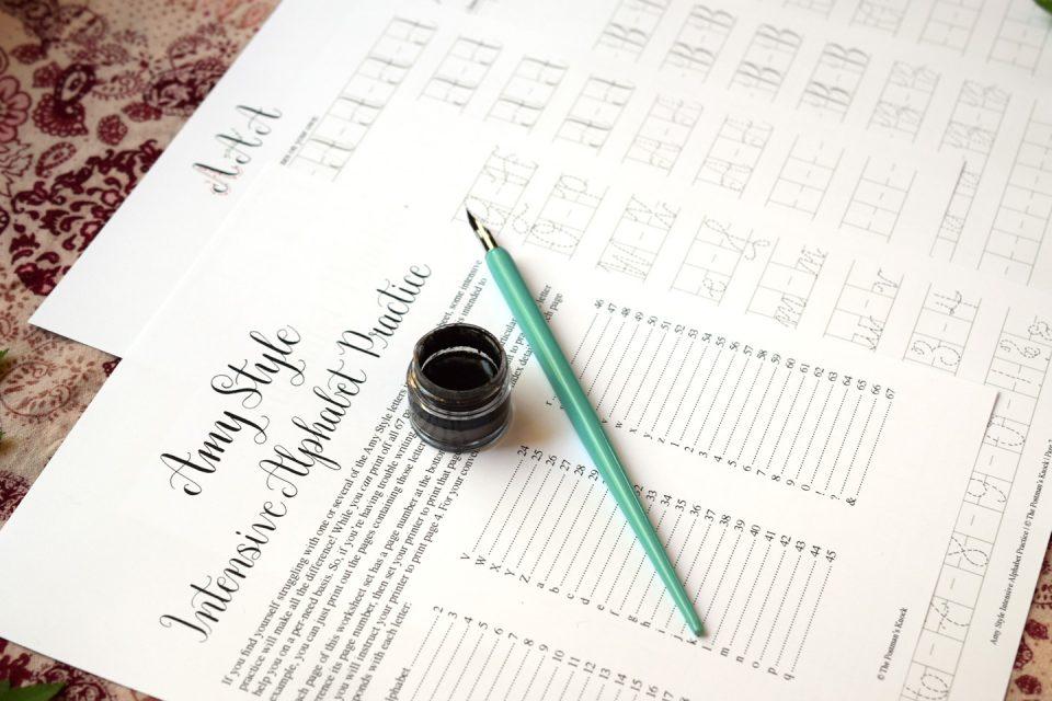 Amy Style Calligraphy Intensive Alphabet Practice | The Postman's Knock
