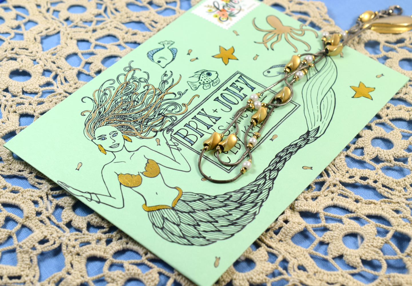 Mermaid Envelope | The Postman's Knock