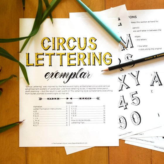 This 16-page printable exemplar will walk you through how to write each letter of the alphabet plus numbers.