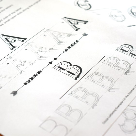 In order to make Circus Lettering, you'll need a pencil and the smear-proof pen of your preference.