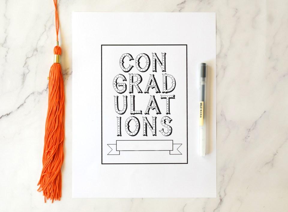 Graduation Card Traceable Template