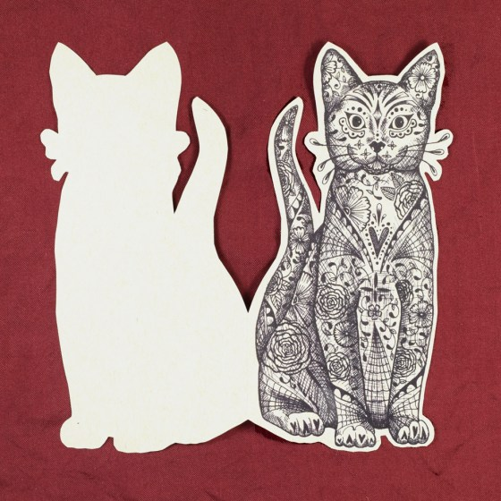 "The 3""x7"" cat fits beautifully in an A7 envelope. Make it into a Halloween greeting card!"