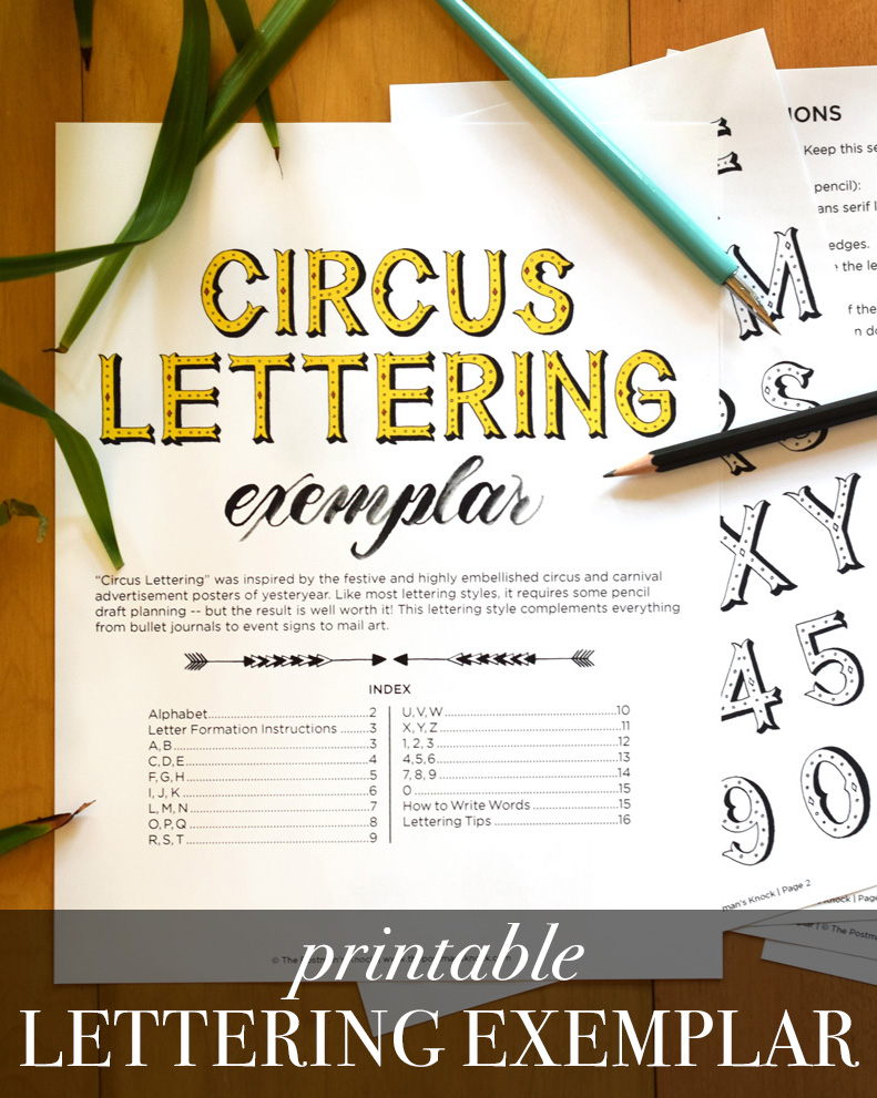 Circus Lettering Exemplar + Video Tutorial | The Postman's Knock