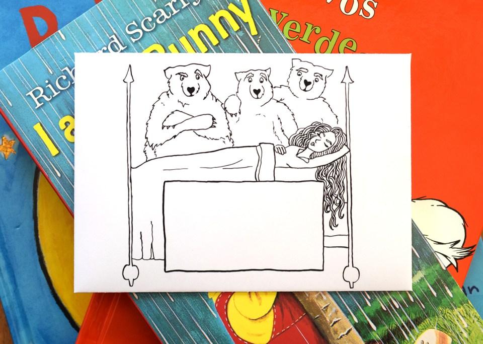 Goldilocks + the Three Bears Printable Mail Art Envelope | The Postman's Knock